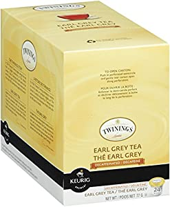 Twinings Earl Grey Decaffeinated Tea, K-Cup Portion Pack for Keurig K-Cup Brewers, 24-Count