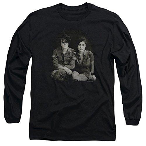 John Lennon - John & Yoko Military - Long-Sleeve Adult T-Shirt - Medium (John Lennon Wheels compare prices)