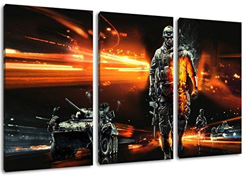Dark Battlefield 3 parti su tela, ingombro: 120x80 cm terminato con cornice immagini Stampa artistica come murale - Più economico di pittura ad olio o la pittura - non un poster o banner,