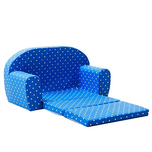 Gepetto Mini Kindersofa blau - Ausklappbares