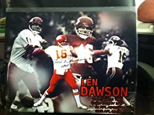 Len Dawson PSA DNA Certified Autographed Kansas City Chiefs 16x20 Photo by 12-6 Sportscards
