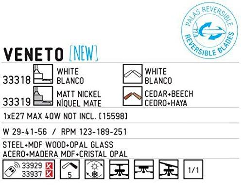 Faro 33318 - VENETO Ventilatore da sofitto bianco