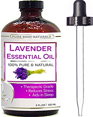Lavender Essential Oil - Big 4 Oz - 100% Pure & Natural Therapeutic Grade - BEST PREMIUM QUALITY Oil From Bulgaria - Used in Aromatherapy & Massage.