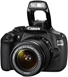 Canon EOS 1200D SLR-Digitalkamera (18 Megapixel, 7,5 cm (3,0 Zoll) Display) Kit inkl. 18-55mm IS Objektiv + 16GB Eye-Fi Speicherkarte schwarz -