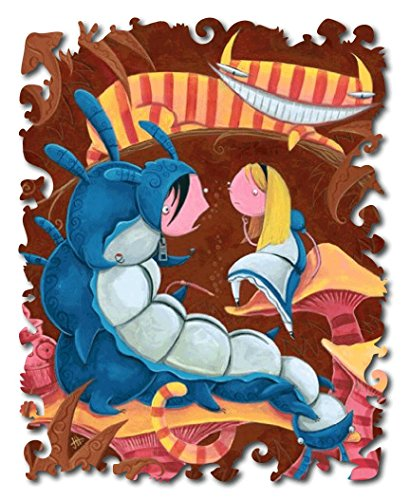 Artifact Puzzles - Justin Hillgrove Alice and the Caterpillar Wooden Jigsaw Puzzle