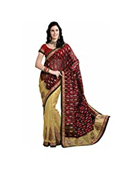 Ashika Self Design Embroidered Embellished Nylon Sari And Saree (7114)