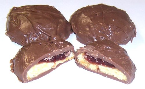 Scott'S Cakes Milk Chocolate Covered Raspberry Butter Cookies In A 1 Pound Coffee Break Bag
