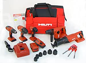 Hilti 03482676 18-Volt Cordless Combination Package, Includes 5 Tools ...