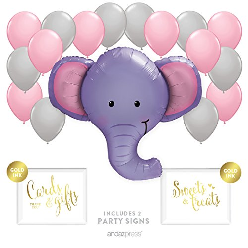 andaz-press-balloon-party-kit-with-signs-girl-baby-shower-elephant-with-pink-and-gray-balloons-hangi