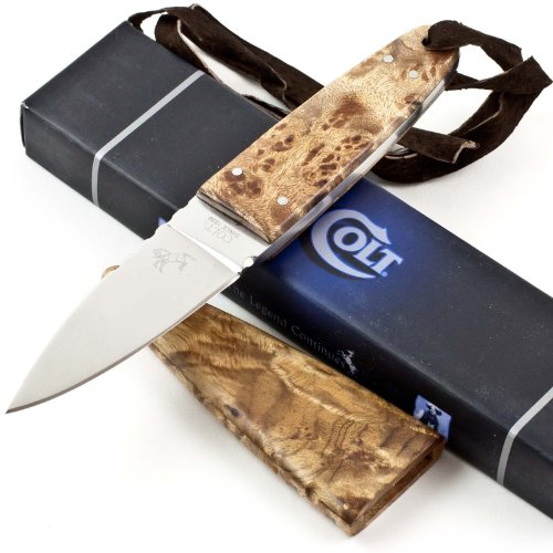 Colt Fixed Blade Hunter Knife, Brown/Wood