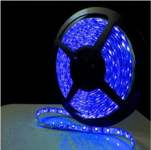 Blue Light Non-Waterproof 1-30M 3528 Smd 60 Leds/M Led Strips Light 2M + 12V Power Adapter