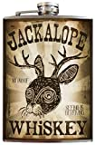 Jackalope flask - 8oz Stainless Steel by Trixie & Milo