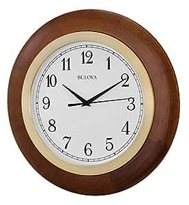 Bulova Carmel Large Wall Clock Home Kitchen