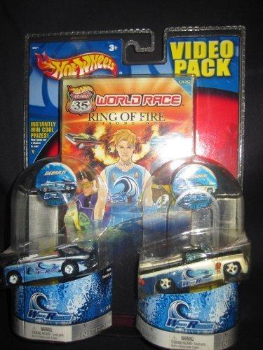 Hot Wheels World Race VHS Video Pack