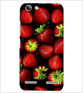 PrintDhaba Strawberries D-4336 Back Case Cover for LENOVO A6020a46 (Multi-Coloured)