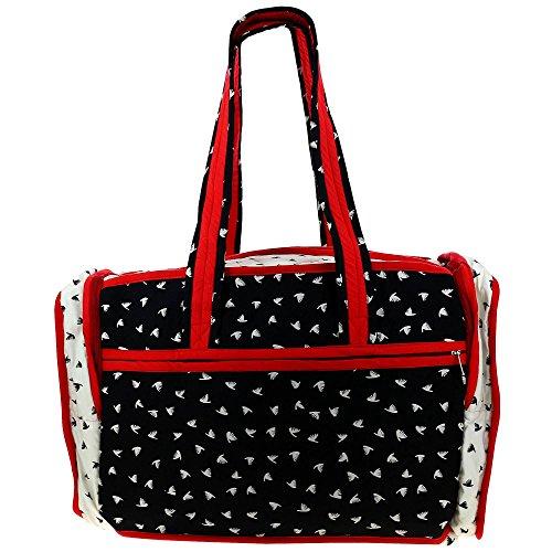 Trapuntato Print borsa da viaggio con fodera impermeabile e 3 tasche - perfetta per lo shopping, palestra & Day Trips