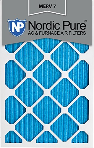 Nordic Pure 15x20x1M7-6 MERV 7 Pleated AC Furnace Air Filter, 15x20x1, Box of 6