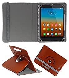 Gadget Decor (TM) PU Leather Rotating 360° Flip Case Cover With Stand For Bsnl Penta WS707C EDGE CALLING TABLET  - Brown
