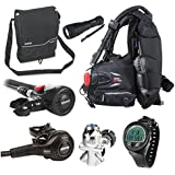Mares Abyss 42 Regulator Scuba Diving Package with air control and BC