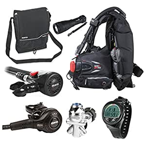 Mares Abyss 42 Regulator Scuba Diving Package with Air Control and BC - X-Large