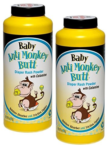 Baby Anti-Monkey Butt Diaper Rash Powder, 6oz. Bottle - 2 Pack