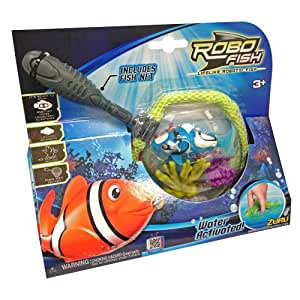 Tobar robo fish with net and coral toys games for Robo fish toy