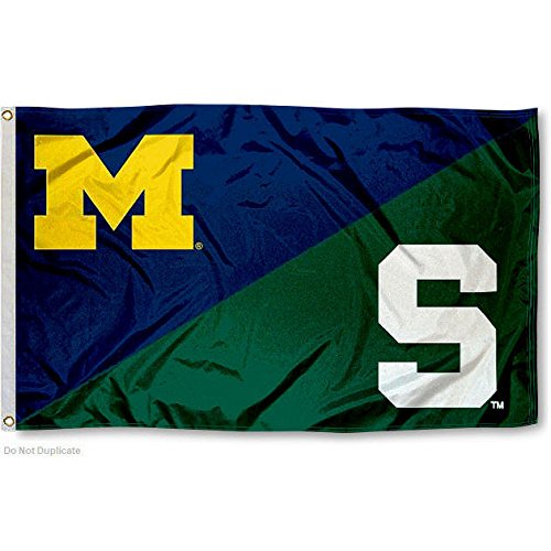 Michigan vs. Michigan State House Divided 3x5 Flag (House Divided compare prices)