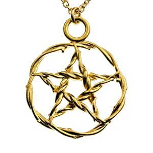 Pentacle Gold-dipped Pendant Necklace on 20