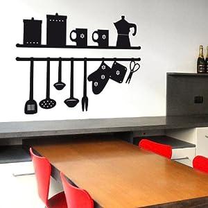 Sticasa la mia cucina adesivo murale 72 x 49 cm - Wall stickers per cucina ...