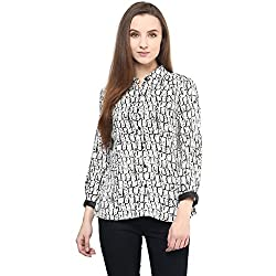 SF Jeans by Pantaloons Women's Casual Shirt (205000005546368_Black_S)