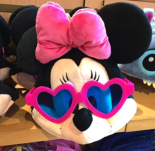 Disney Parks Minnie Mouse with Sunglasses Face Plush Hat Adult Size NEW