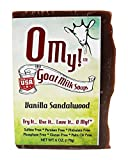 O My!Tm Vanilla Sandalwood Goat Milk Soap All Natural, Palm Oil Free, Handmade Soap Made In Usa