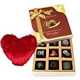 Valentine Chocholik's Luxury Chocolates - Sweet Moment With Dark Chocolate With Heart Pillow