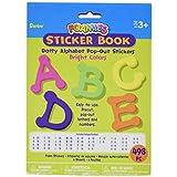 Foam Pop-Out Sticker Book 498/Pkg-Dotty Alphabet-Bright