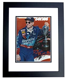 Mark Martin Autographed Hand Signed Racing 8x10 Photo - BLACK CUSTOM FRAME by Real Deal Memorabilia