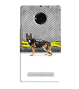 PRINTVISA Dog Police Case Cover for Micromax YU Yuphoria