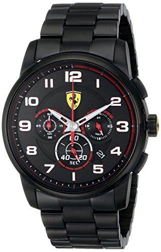 Ferrari Hombre 0830054Heritage analógico pantalla Cuarzo Reloj Negro