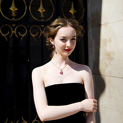 qianse rose lover rose gold sweet necklace earring sets. Black Bedroom Furniture Sets. Home Design Ideas