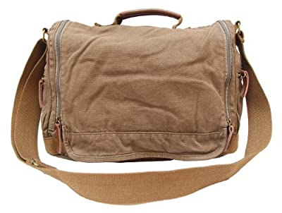 Gootium 30622 Classic Canvas Shoulder Bag - Fits Laptops Up To 15.6""
