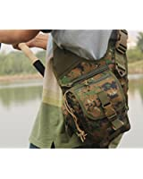 douself® Outdoor Multifunction Lure Bag Fishing Rod Tackle Bag Waist Pack Camping Hiking Moutaineering Earth