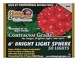 Bethlehem Lighting Indoor/Outdoor Mini StarChristmas Light Sphere 50  , Red