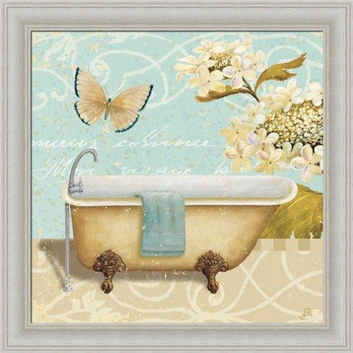 Light Breeze Bath Ii By Daphne Brissonnet Shabby Vintage Bathroom Wall Art Print Framed Décor front-921903