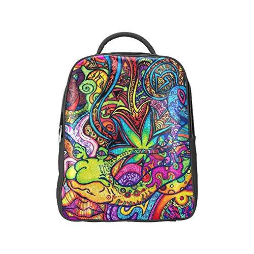 COLORSFORU(TM) Cannabis Marijuana Leaf PU Backpack Satchel School Book Bag (Igloo Electric Cooler Parts compare prices)