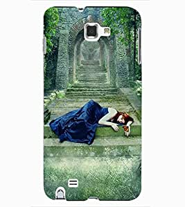 ColourCraft Lovely girl Design Back Case Cover for SAMSUNG GALAXY NOTE 1