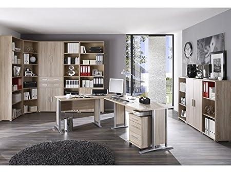 Arbeitszimmer Buro Office Line 11-teilig Eiche Sonoma