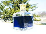 Blue Potion Bottle (Health, Magic Potion, Mana, Magicka, Energy Potion). Video Game and Fantasy Inspired Replica, Decorative Glass Bottle with Square Shape