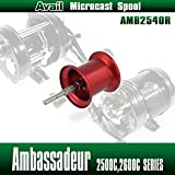 【Avail/アベイル】 【Abu/アブ】 Ambassadeur/アンバサダー用 NEW軽量浅溝スプール Avail Microcast Spool AMB2540R レッド