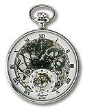 【RAPPORT】 ラポート 懐中時計(ポケットウォッチ) 手巻き シルバースケルトン PW89