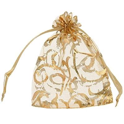 La Vogue 100PCS 9*12CM Sachets Sacs Pochettes Organza Cordon Coulissant de Serrage Bijoux Cadeaux Bonbon Mariage Fête Cotillons Boutiques Vente