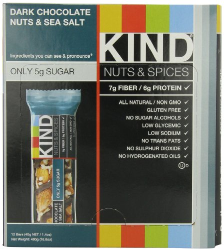 KIND Nuts & Spices, Dark Chocolate Nuts & Sea